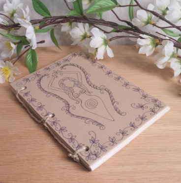 Tan Goddess Hand Bound Journal BOS 2