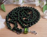 Black and Green Japa Mala Prayer Beads