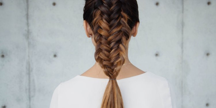 Fishtail braid hairstyle mermaid