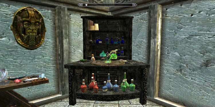 Skyrim game alchemy screenshot