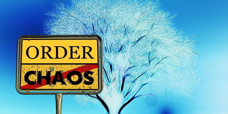 chaos order sign tree blue