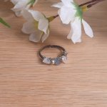 Moonstone Fluorite and Rose Quartz Beauty and Weight Loss Ring flat