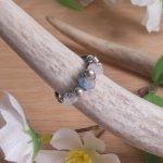 Moonstone Fluorite and Rose Quartz Beauty & Weight Loss Ring
