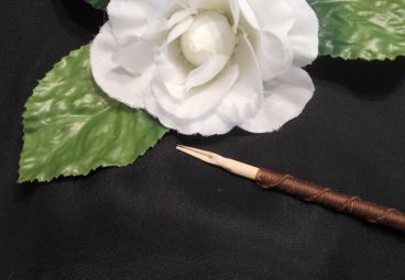 Brown Hand Wrapped Bamboo Dip Pen