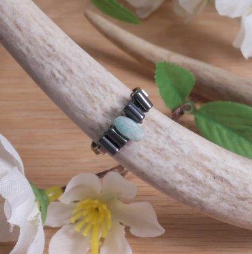 Jade and Hematite Health Ring