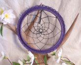 Purple and Black Dreamcatcher Native American Goth Dream