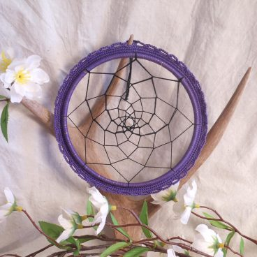 Purple and Black Dreamcatcher Native American Goth Dream