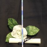 Variegated Blue Hand Wrapped Seshat Bamboo Pen