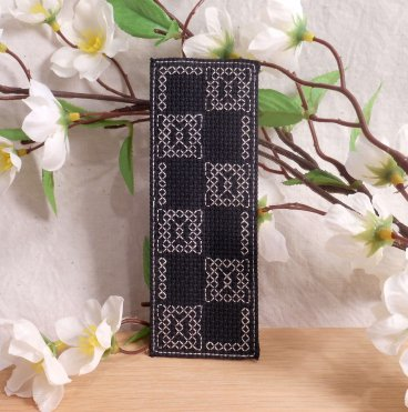 Black and White Geometric Pattern Bookmark