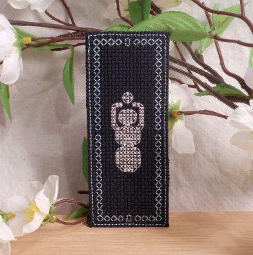 Black and White Goddess Gaia Bookmark