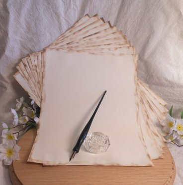 Hand Aged Ritual Paper with Scorched Edges