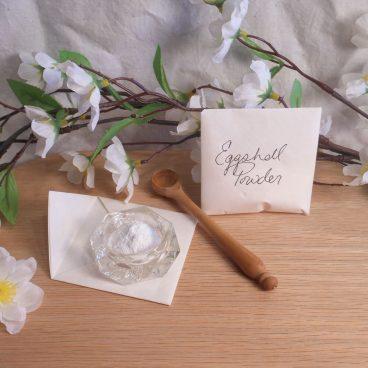 white eggshell powder cascarilla herb pagan wiccan spell magic