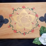 Hand Painted Portable Wood Goddess Altar