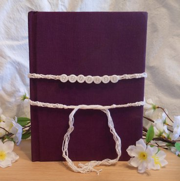 White Book of Shadows Button Protection Band