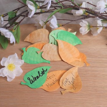 Wishing Leaves Assorted Colors Elements for Spells Rituals