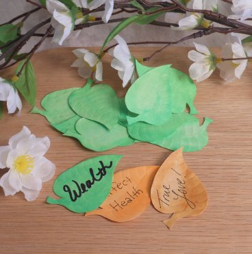 Wishing Leaves Green Elements for Spells Rituals