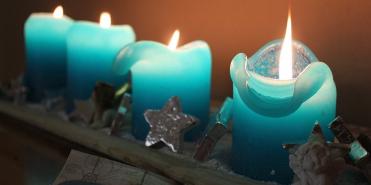 blue candles fire flame magic spell ritual pagan