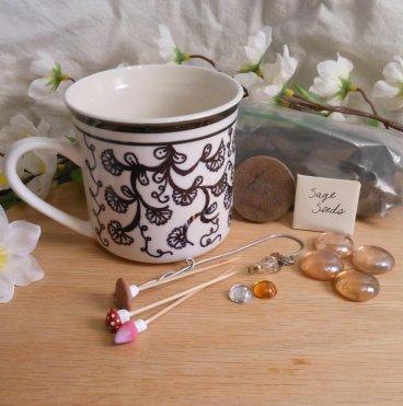 Fairy Garden Kit with Peach Stones