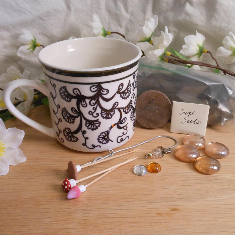 Fairy Garden Kit with Peach Stones