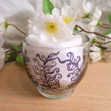 Glass Zendoodle Votive Candle Holder