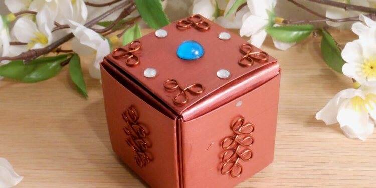 Copper Upcycled Paper Trinket Box