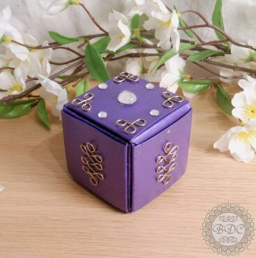 Purple Upcycled Paper Trinket Box