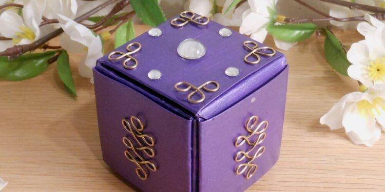 Purple Upcycled Paper Trinket Box