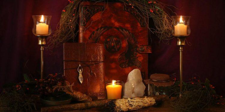 Pagan altar candle myth