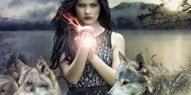 Pagan Wiccan Witch Gothic Magick Woman Wolves