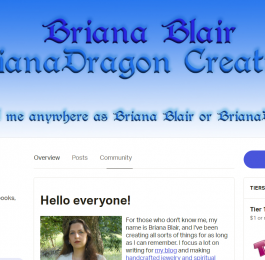 Briana Blair Patreon support donate screenshot