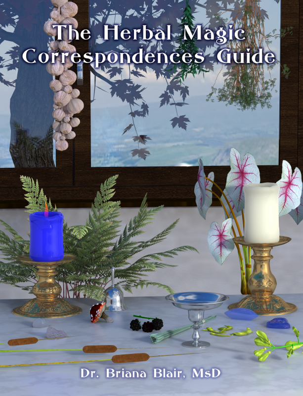 The Herbal Magic Correspondences Guide cover front