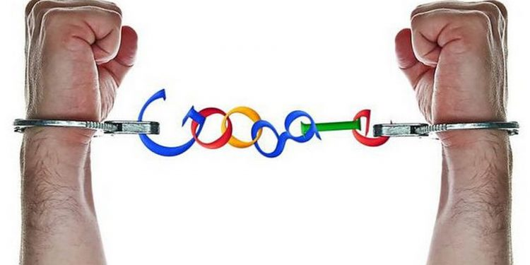 google hands in chains control handcuffs