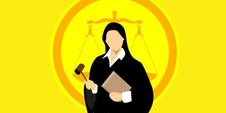 judge woman court law yellow gavel