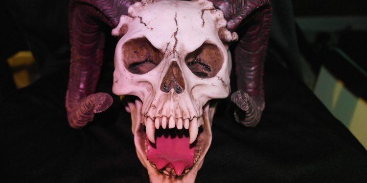 satan satanic demon skull