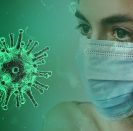 coronavirus mask person woman sick germ disease